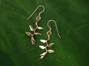 Heliconia Gold Earrings