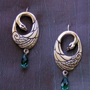 Swan Silver Earrings