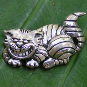 Cheshire Cat Silver Pendant