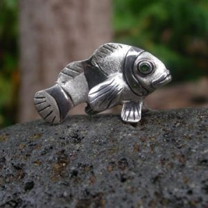 Fish Miniature Silver Sculpture
