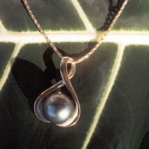 Large Pearl Gold Pendant