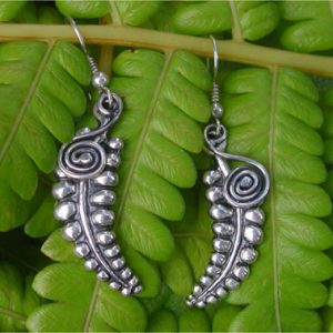 Fern Silver Earrings