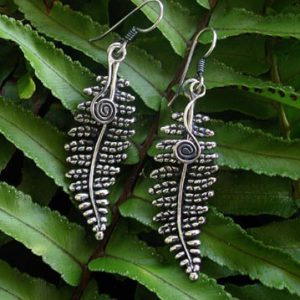 Hapu Fern Silver Earrings