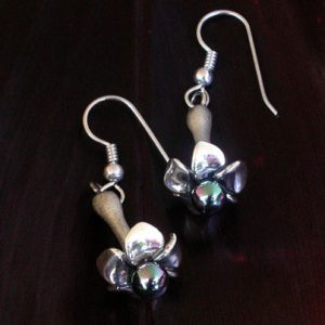 Puakenikeni Silver Earrings